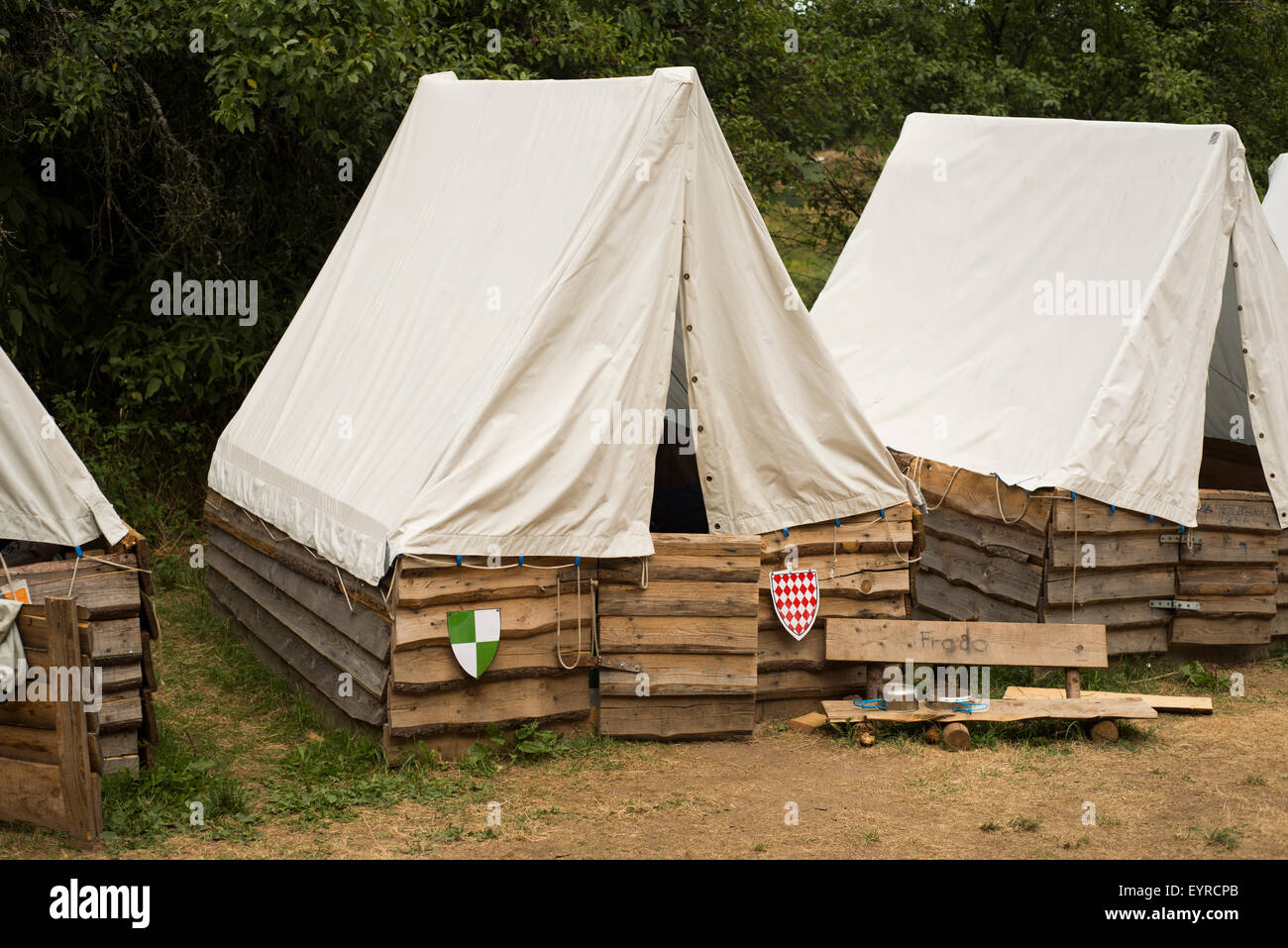 Boys Scout Campground, summer camp, tents, Roughing camping