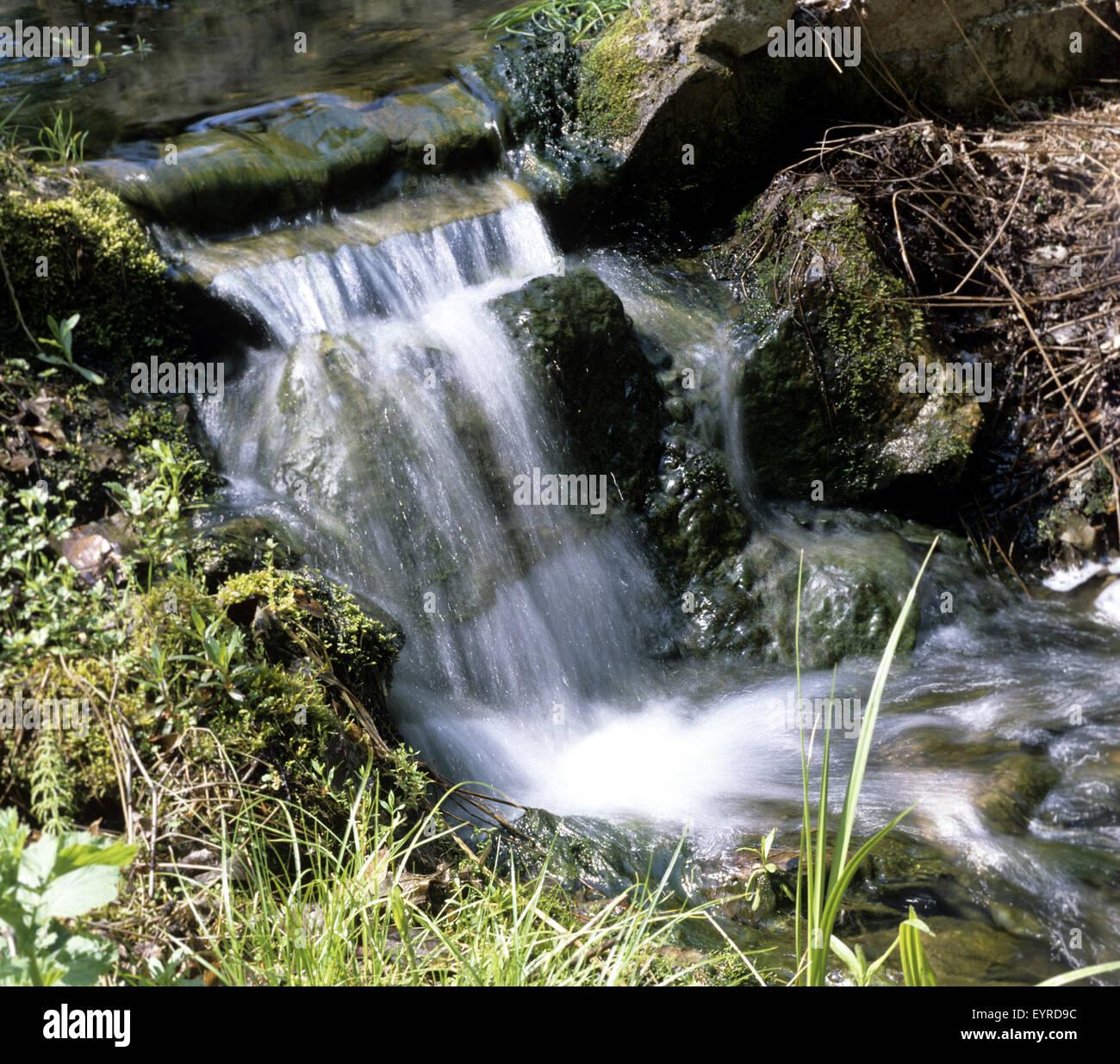 Bachlauf Garten Stock Photo 85952536 Alamy