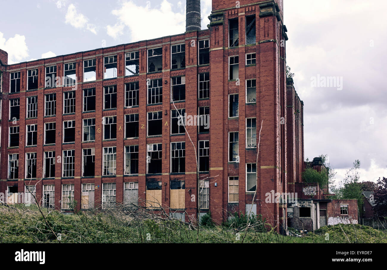 Derelict Hartford Mill, Freehold, Greater Manchester - Stock Image