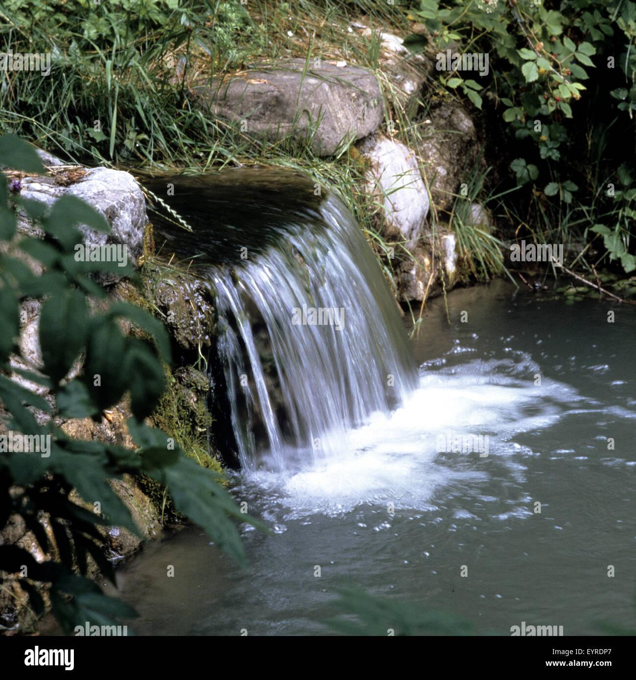 Bachlauf Garten Stock Photo 85952895 Alamy