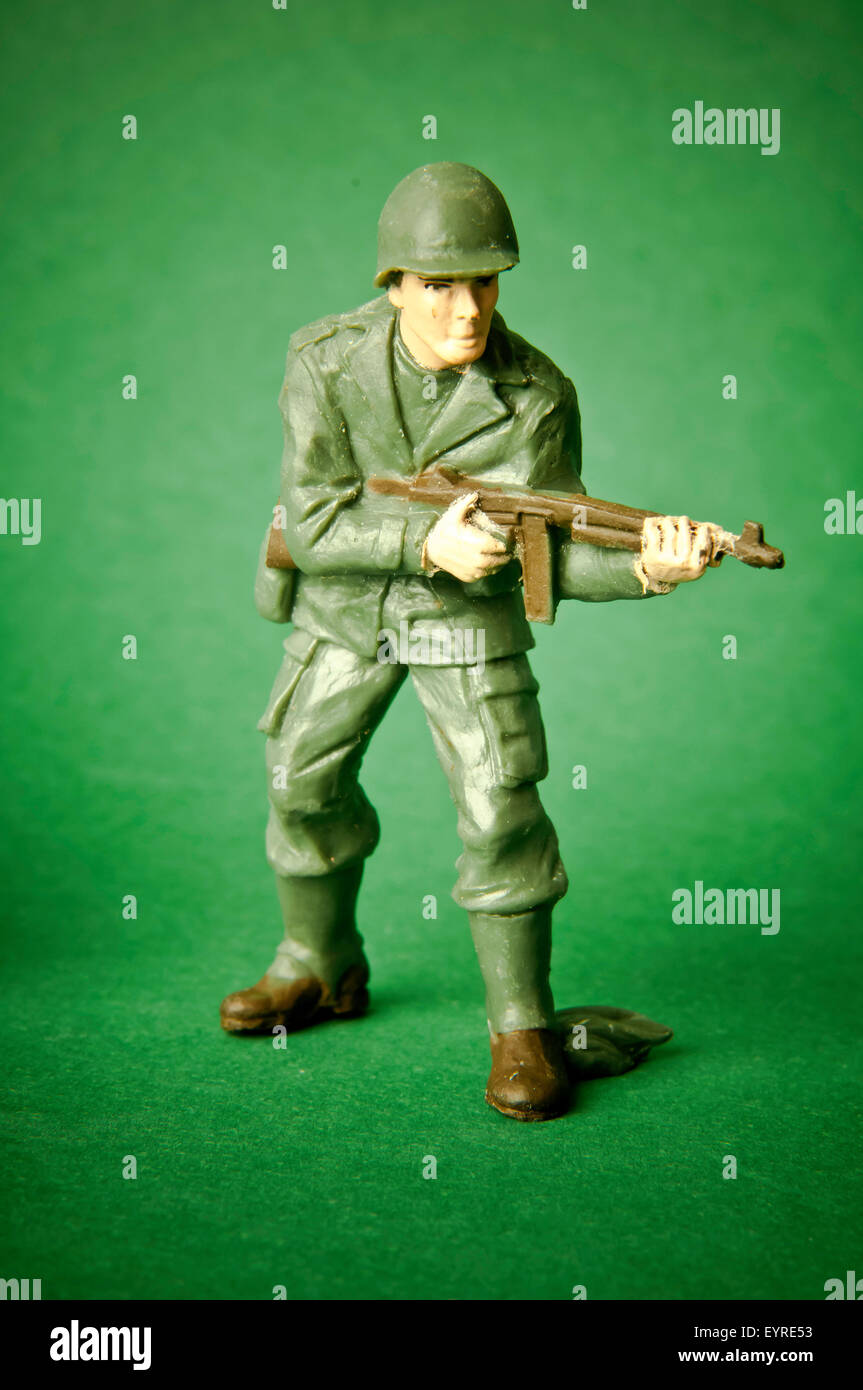 US army toy plastic soldier - Stock Image