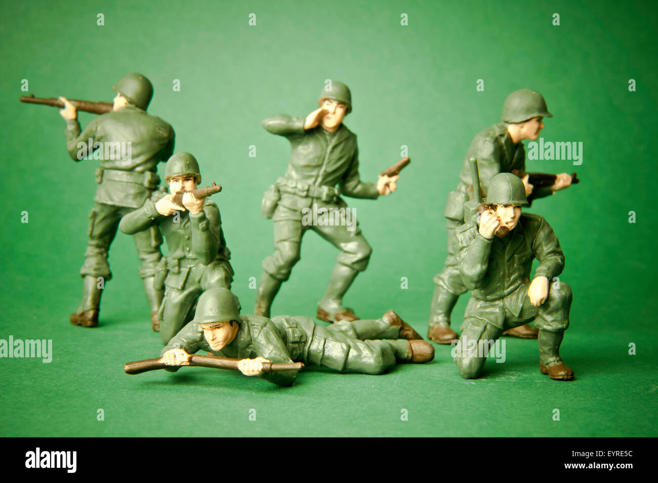 US army toy plastic soldiers - Stock Image