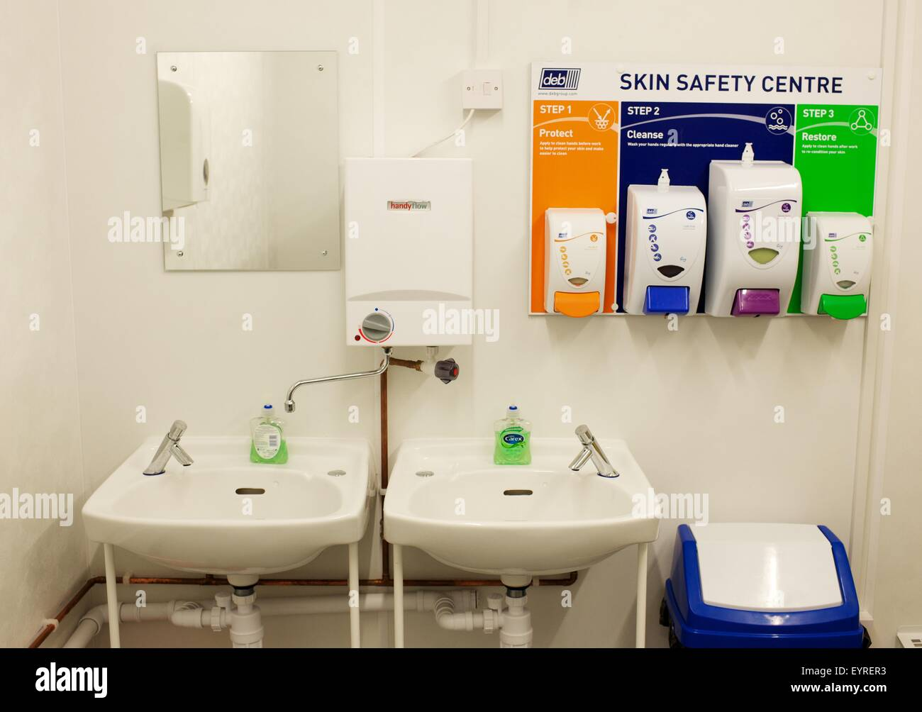 skin safety centre on a building site - Stock Image