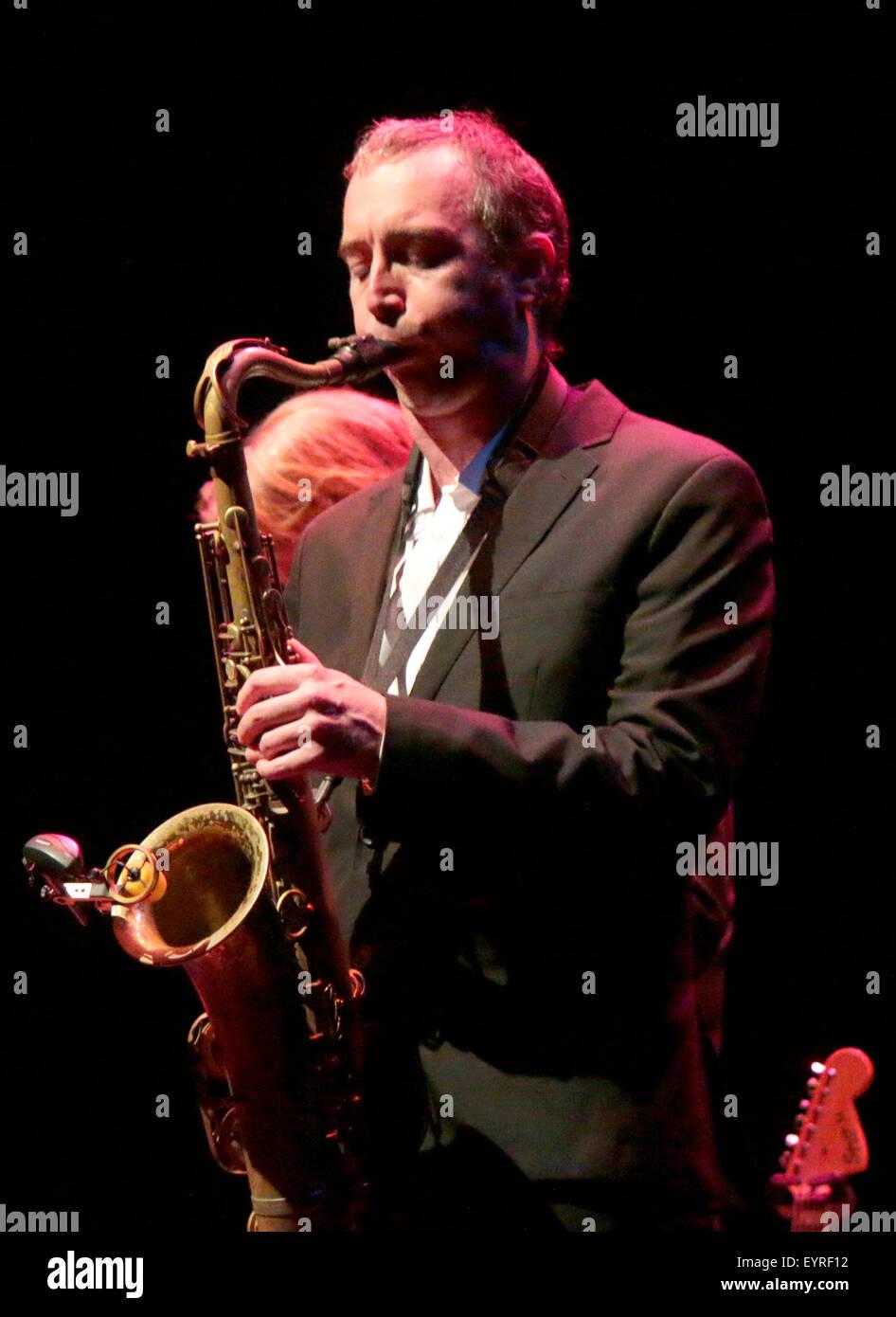 Jake McMurchie - Auftritt von 'Get The Blessing' im Rahmen des Jazzfest Berlin, 31. Oktober 2014, Berlin. - Stock Image