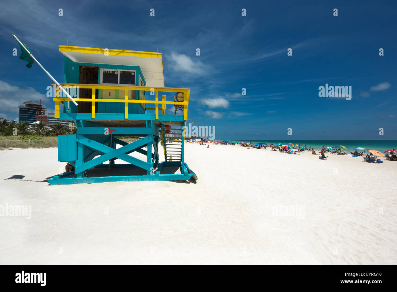 LIFEGUARD STATION MIAMI BEACH FLORIDA USA - Stock Image