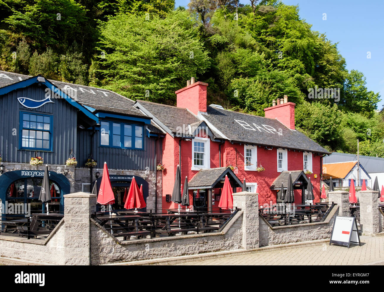 MacGochans restaurant and bar in Tobermory, Isle of Mull, Argyll & Bute, Inner Hebrides, Western Isles, Scotland, - Stock Image