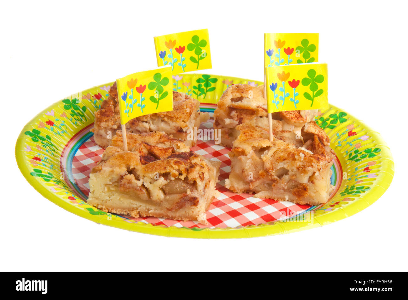 Happy Birthday Cake Pieces Cut Out Stock Images Pictures Alamy