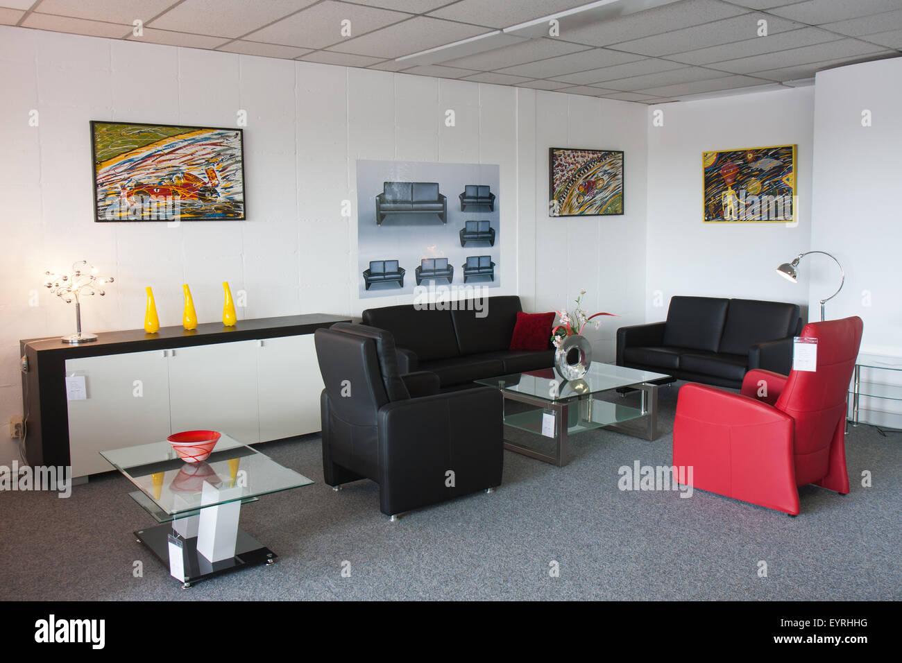 Showroom of modern furniture