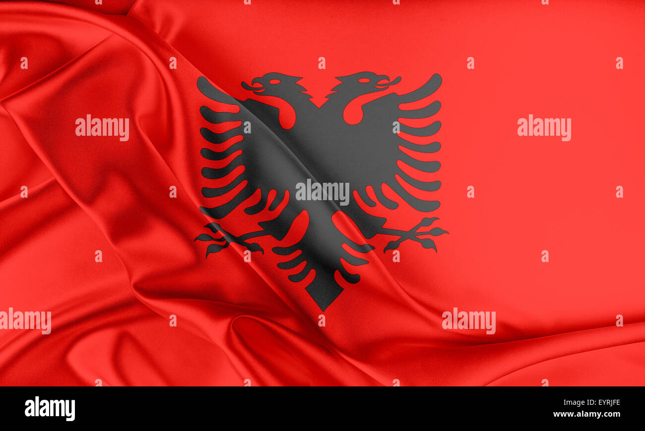 Albania Flag. - Stock Image