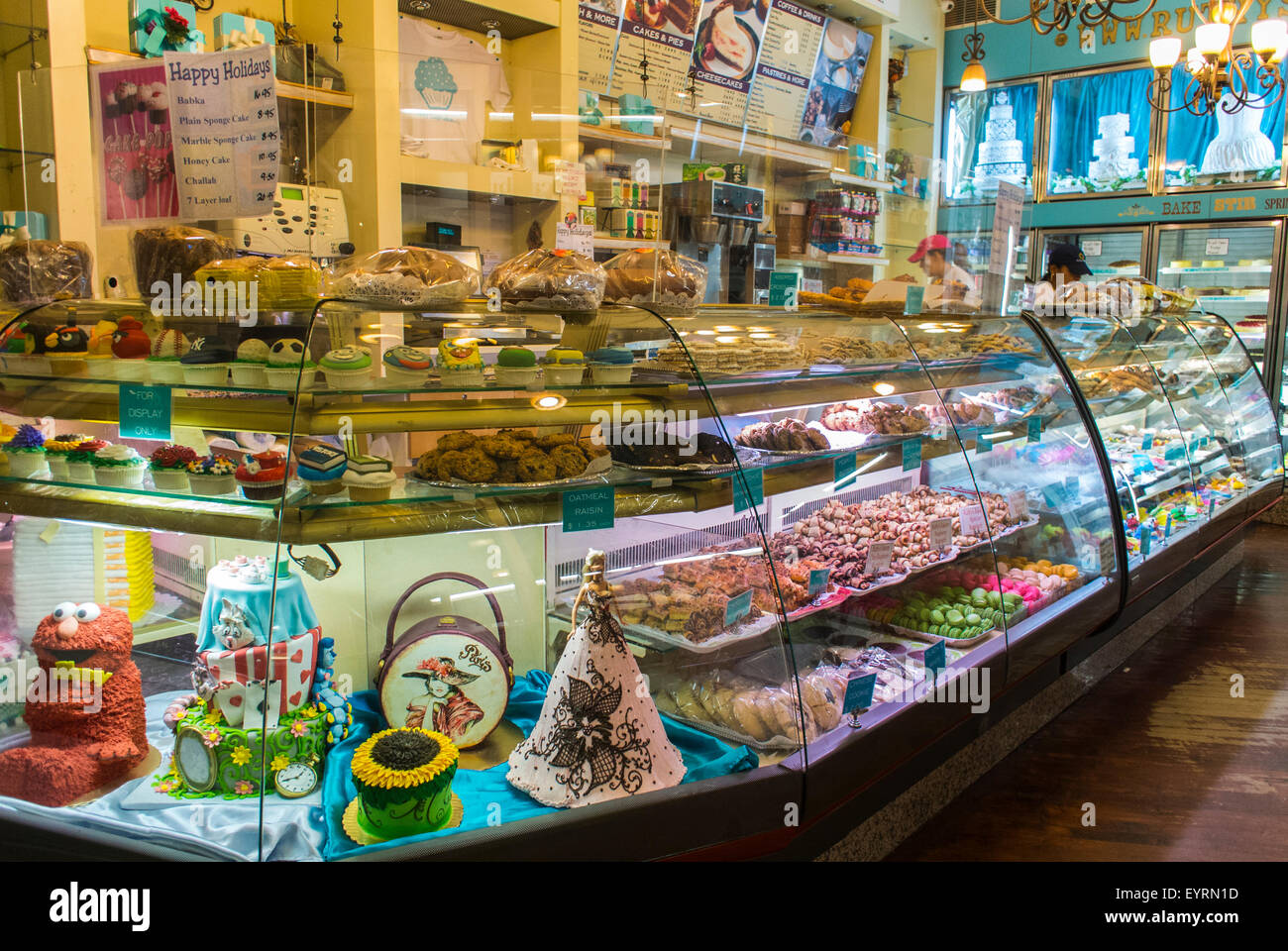 new york city usa ruthery s bakery shop case with cakes shops