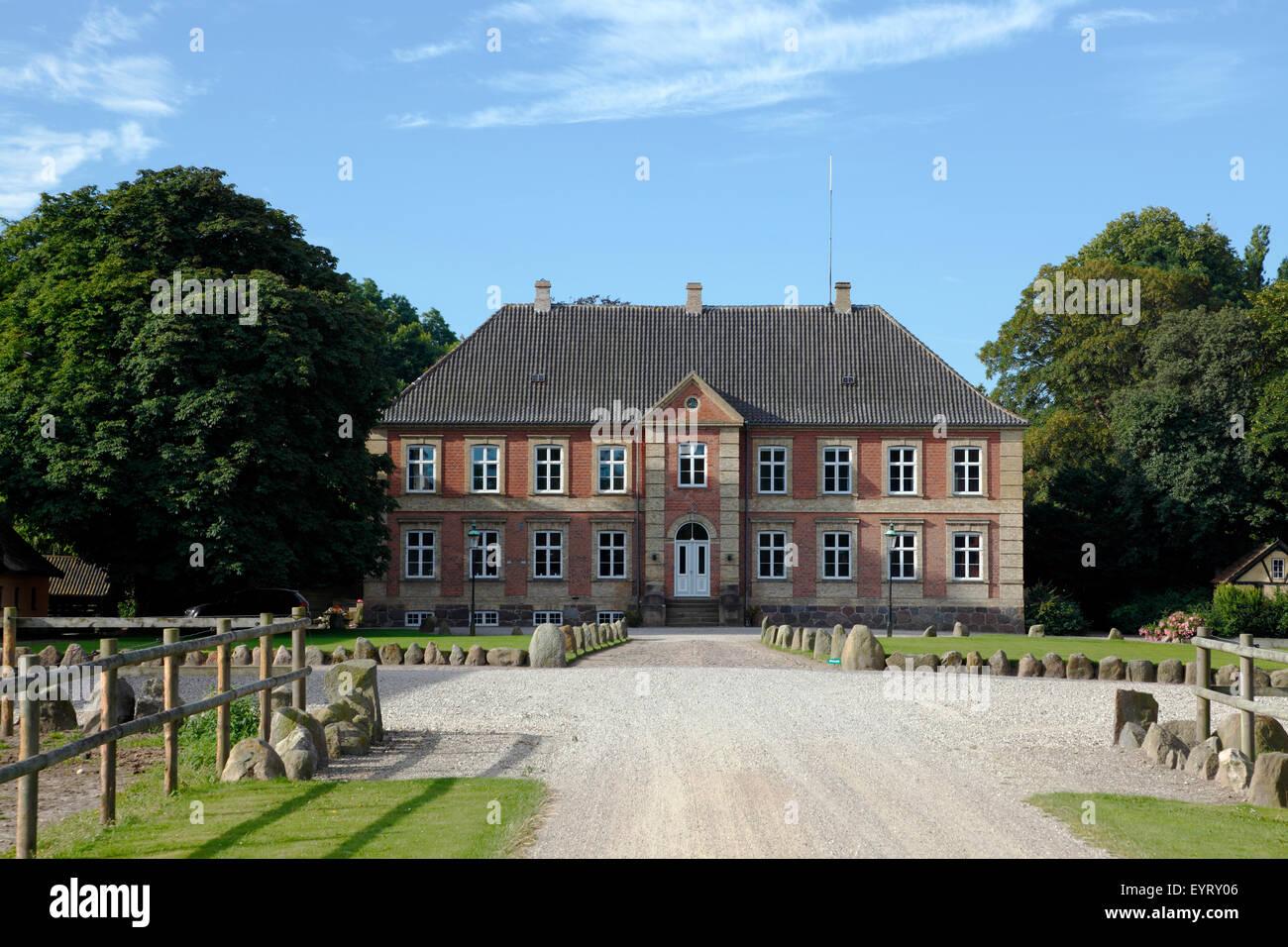 The manor Grønnessegaard at Hundested, Denmark - Stock Image