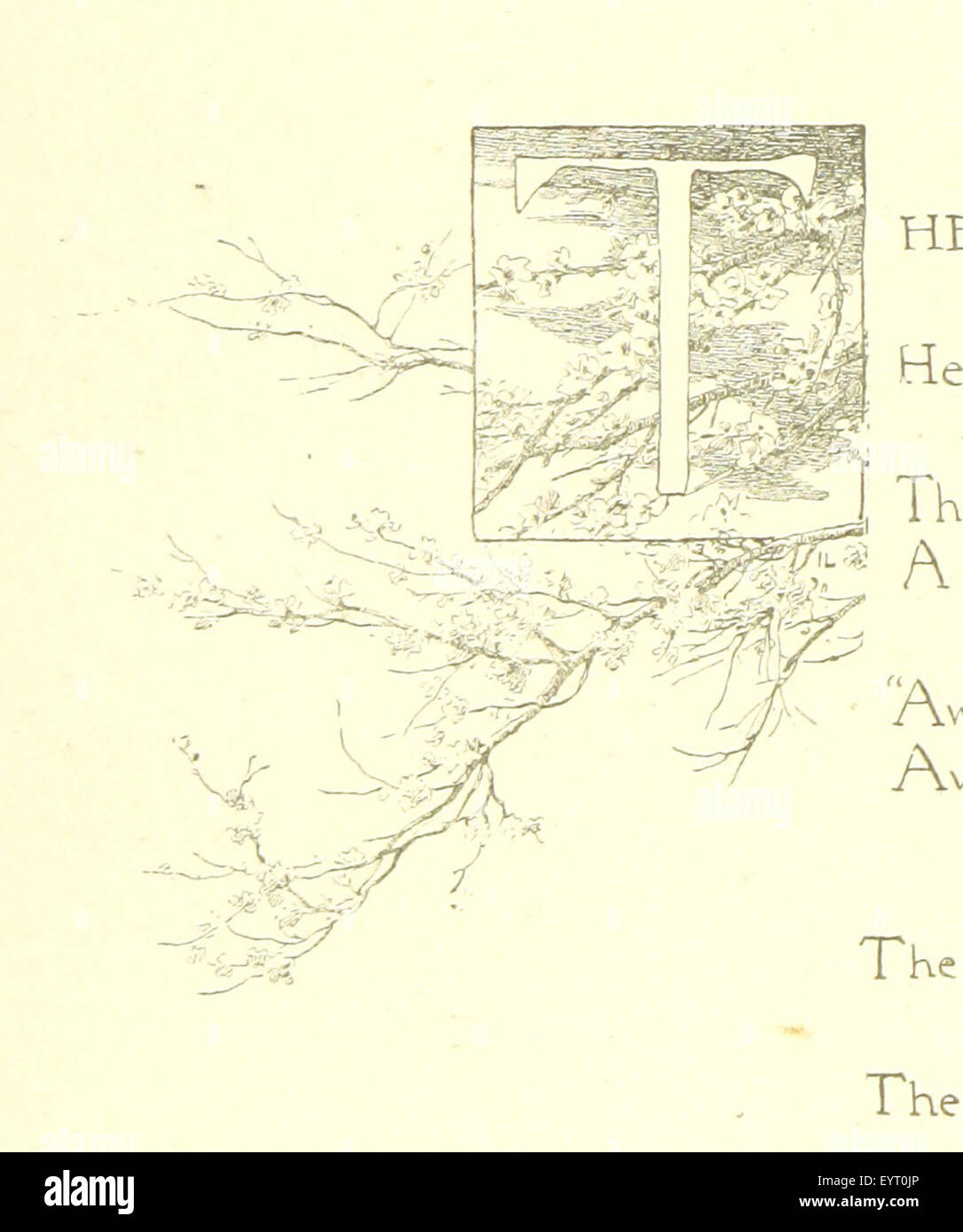 The Beautiful World and other poems, by Helen J. Wood, Helen M. Waithman, and Ethel Dawson. Illustrated Image taken - Stock Image