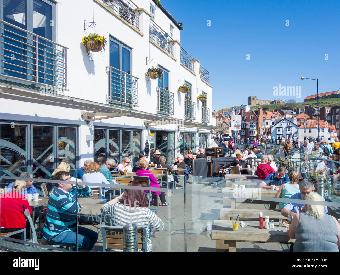 A J D Wetherspoon`s The Angel Hotel in Whitby, North Yorkshire, England, UK - Stock Image