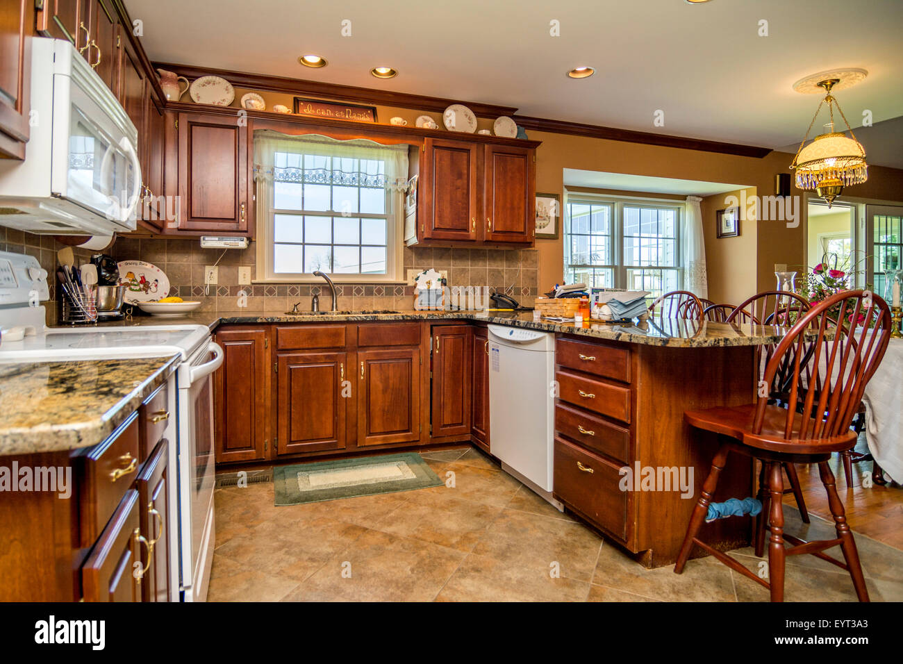 Kitchen In An American Middle Class House Stock Photo 85966667 Alamy