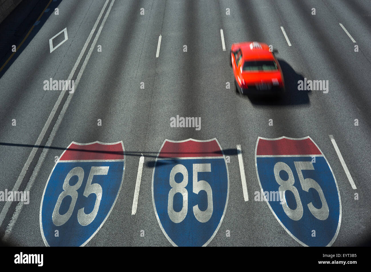 I-75/I-85 INTERSTATE CONNECTOR ATLANTA GEORGIA USA - Stock Image