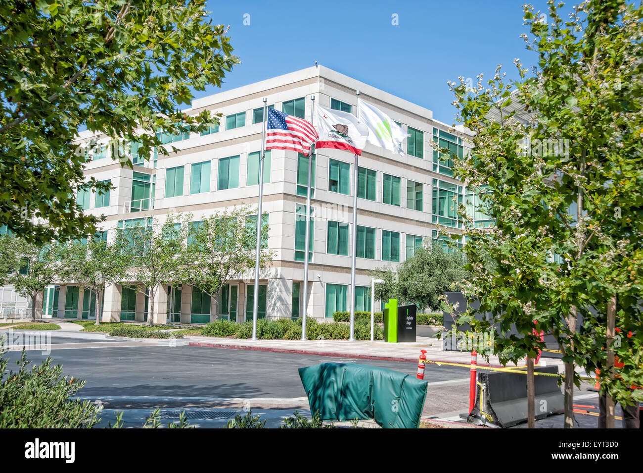 CUPERTINO, CA, - AUGUST 1, 2015: Apple Inc Headquarters at One Infinite Loop located in Cupertino, California on - Stock Image