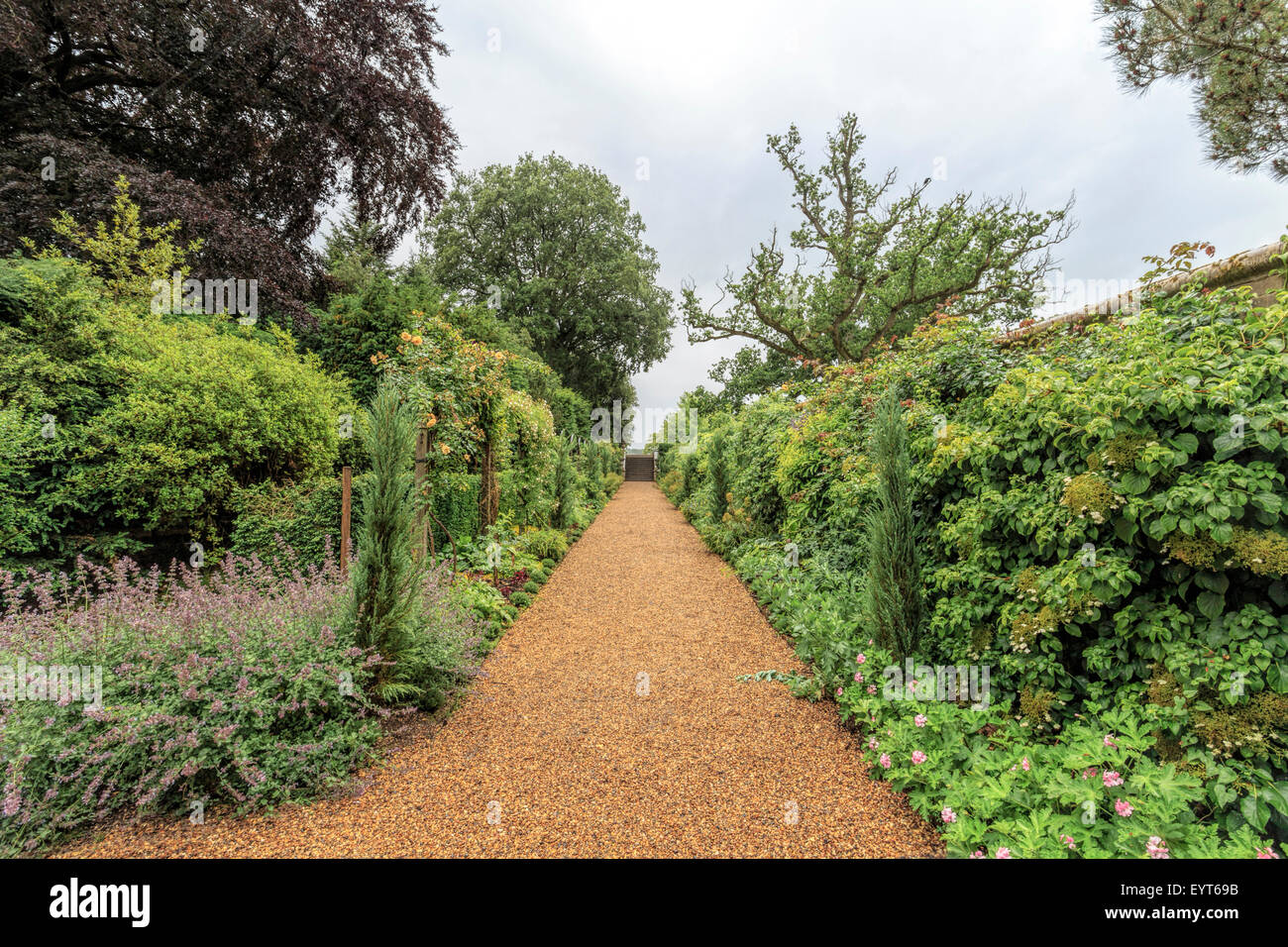 The Walled Garden at Ickworth House, Horringer, near Bury St. Edmunds, Suffolk, East Anglia, England, Great Britain, - Stock Image
