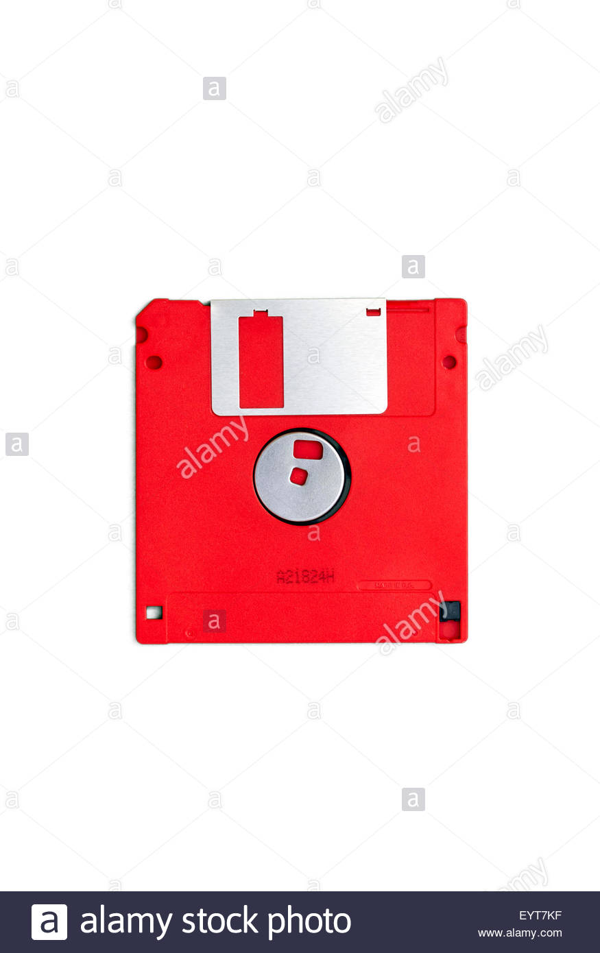A 3.5 Diskette data recording storage disc for storing computer data - Stock Image