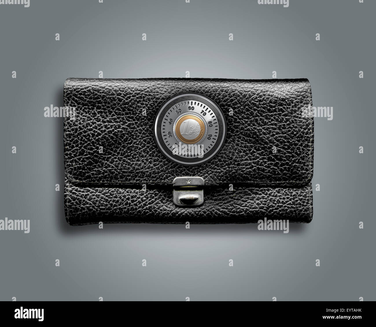 3d, CGI, [M], symbol, purse, protection, combination lock, money, finances, - Stock Image