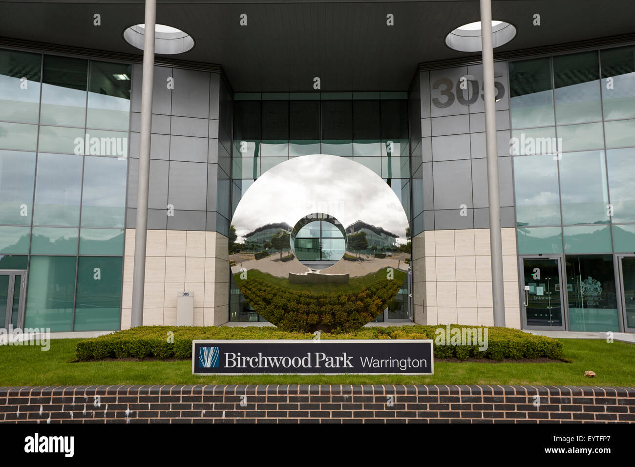 305 Bridgewater place birchwood park warrington site of the coroners court for the hillsborough inquest - Stock Image
