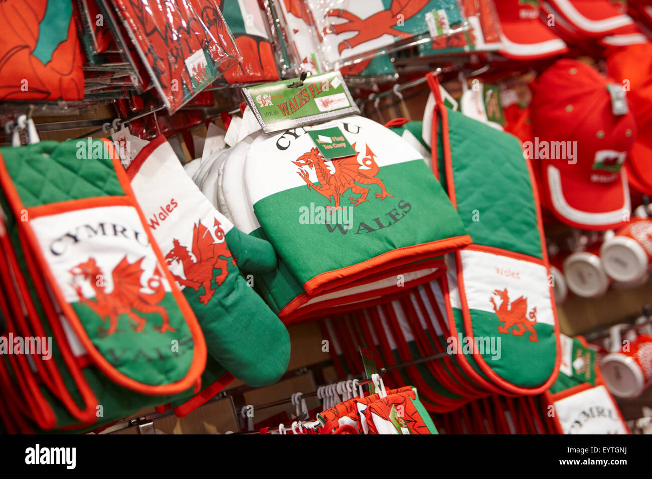 welsh dragon souvenirs and gifts - Stock Image