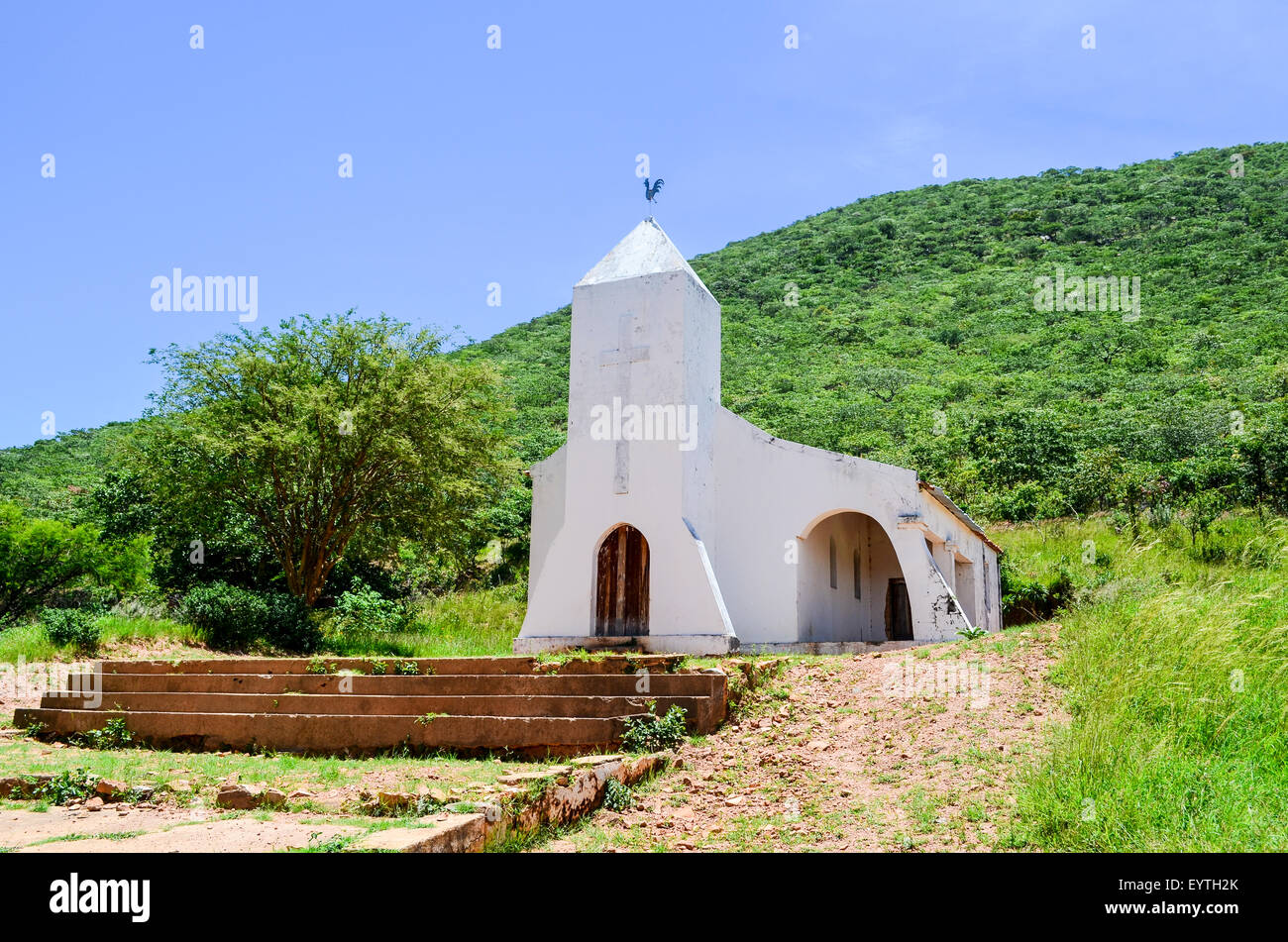 Church of Negola village in Angola - Stock Image