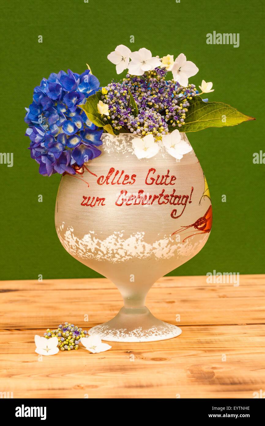 Glass stroke happy birthday flowers hydrangeas stock photo glass stroke happy birthday flowers hydrangeas izmirmasajfo
