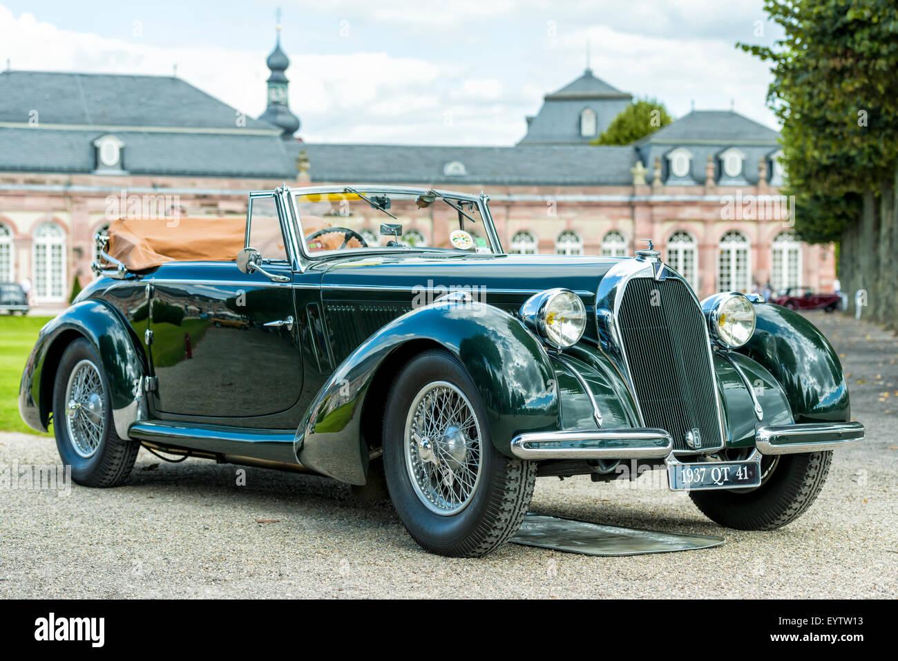 Schwetzingen, Baden-Wurttemberg, Germany, Talbot QT 41, 1937 model, Classic-Gala, Concours d'Elégance in - Stock Image