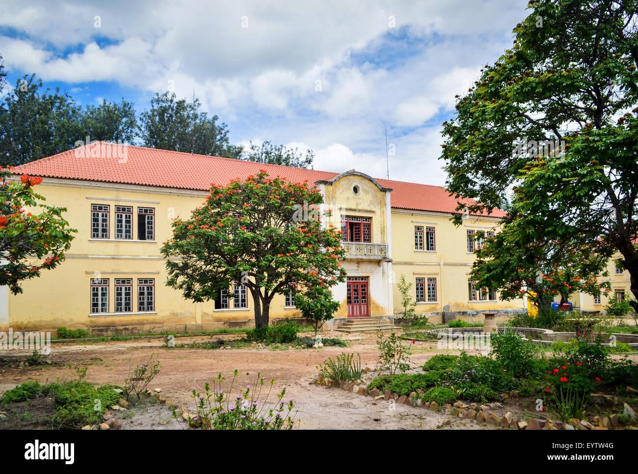 Catholic mission of Jau, Huila province, Angola Stock Photo