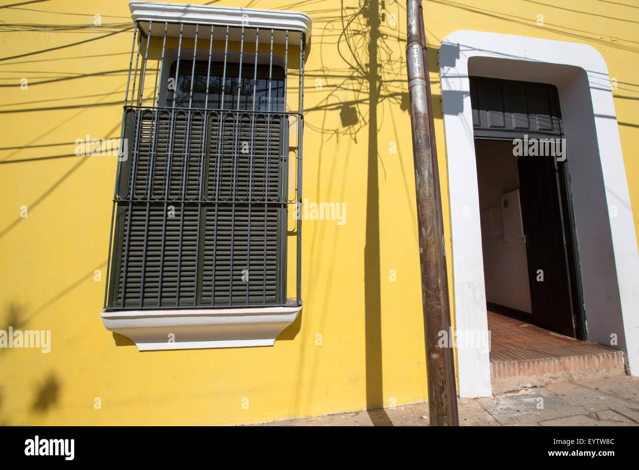 Old colonial town. Venezuela, Ciudad Bolivar is one of the prettiest colonial cities in Venezuela. - Stock Image