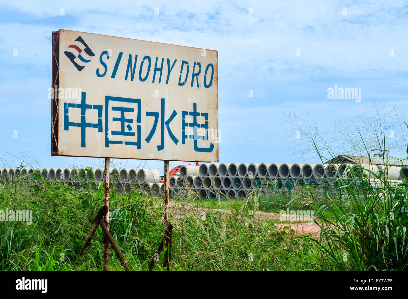 Sinohydro in Africa (ZAire province, Angola) - Stock Image