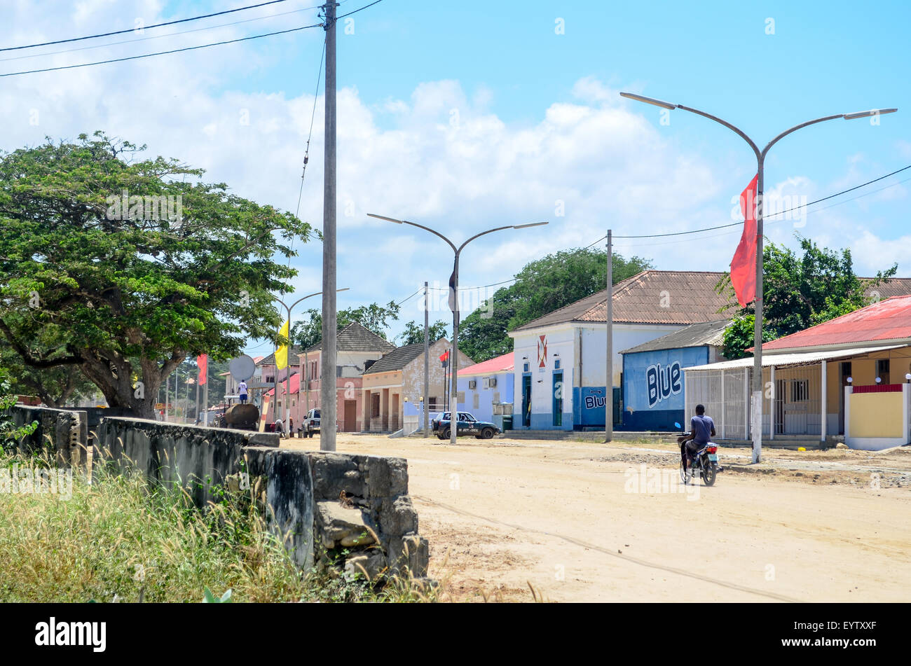 Town of N'zeto in Angola - Stock Image