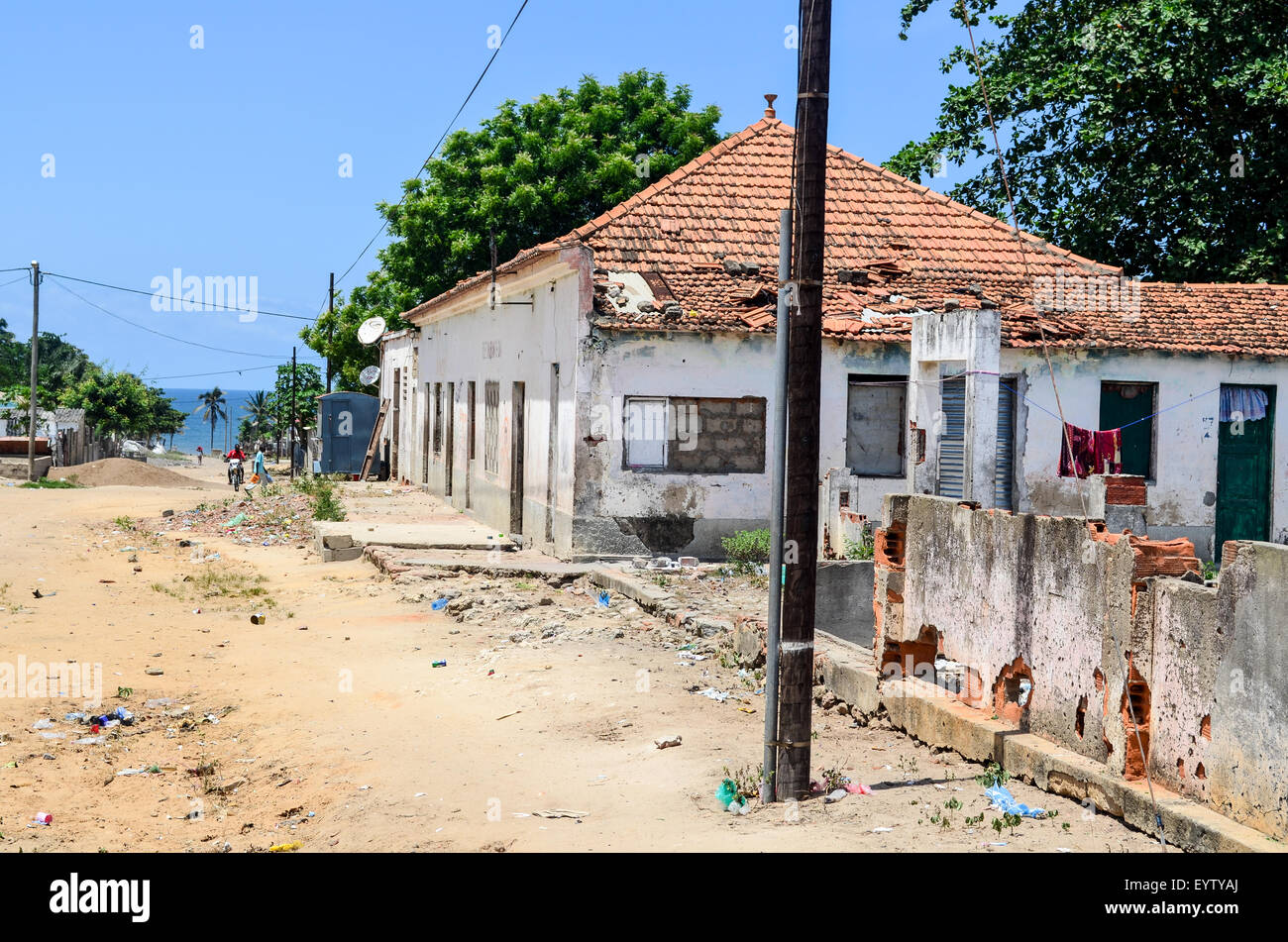 Town of Ambriz  in Angola - Stock Image