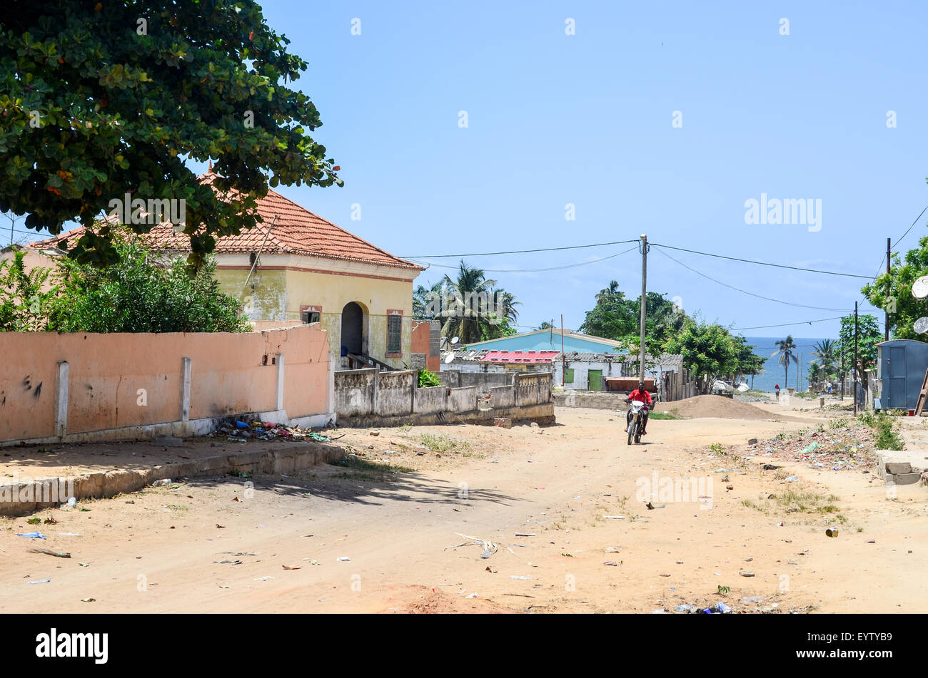 Town of Ambriz  in Angola Stock Photo