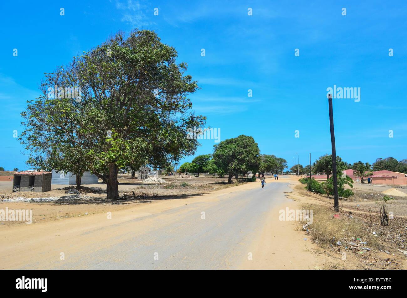 Town of Ambriz, Angola - Stock Image