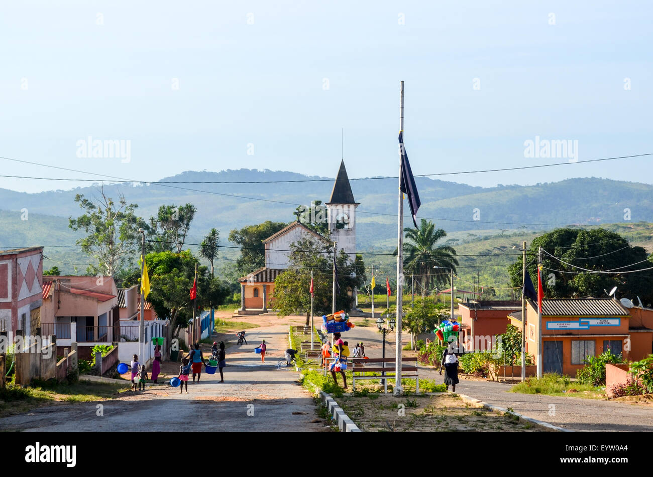 Town of Quibaxe in Angola - Stock Image