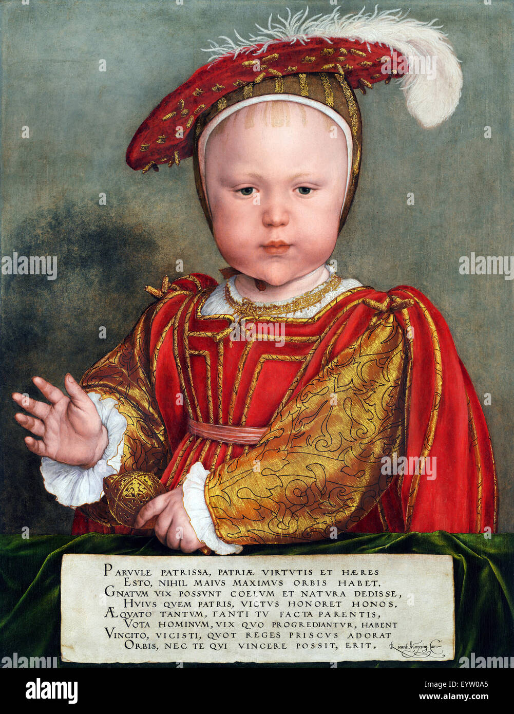 Hans Holbein the Younger, Edward VI as a Child. Circa 1538. Oil on panel. National Gallery of Art, Washington, D.C., - Stock Image