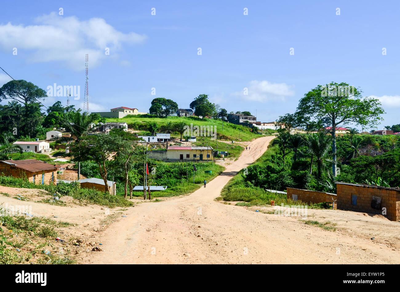Village of Ngonguembo, Angola - Stock Image