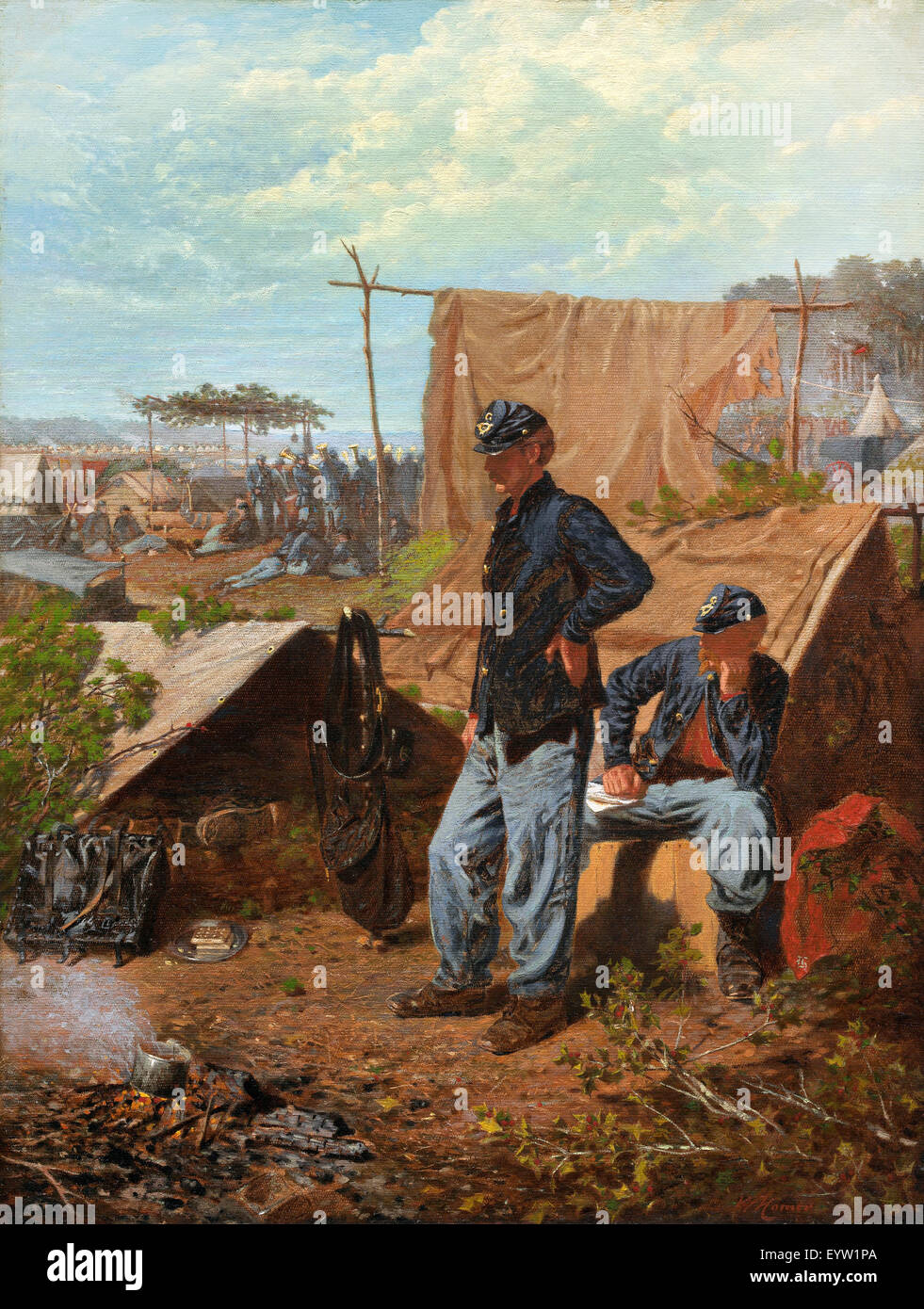 Winslow Homer, Home, Sweet Home. Circa 1863. Oil on canvas. National Gallery of Art, Washington, D.C., USA. - Stock Image