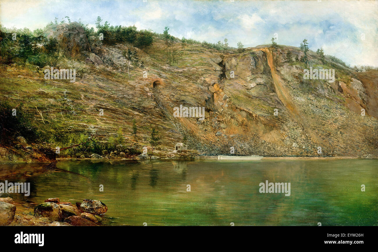 Homer Dodge Martin, The Iron Mine, Port Henry, New York. Circa 1862. Oil on canvas. Smithsonian American Art Museum, - Stock Image