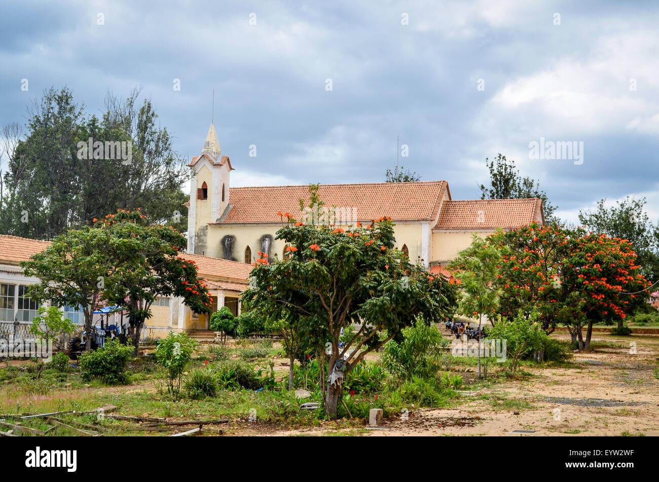 Catholic mission of Jau, Huila province, Angola - Stock Image