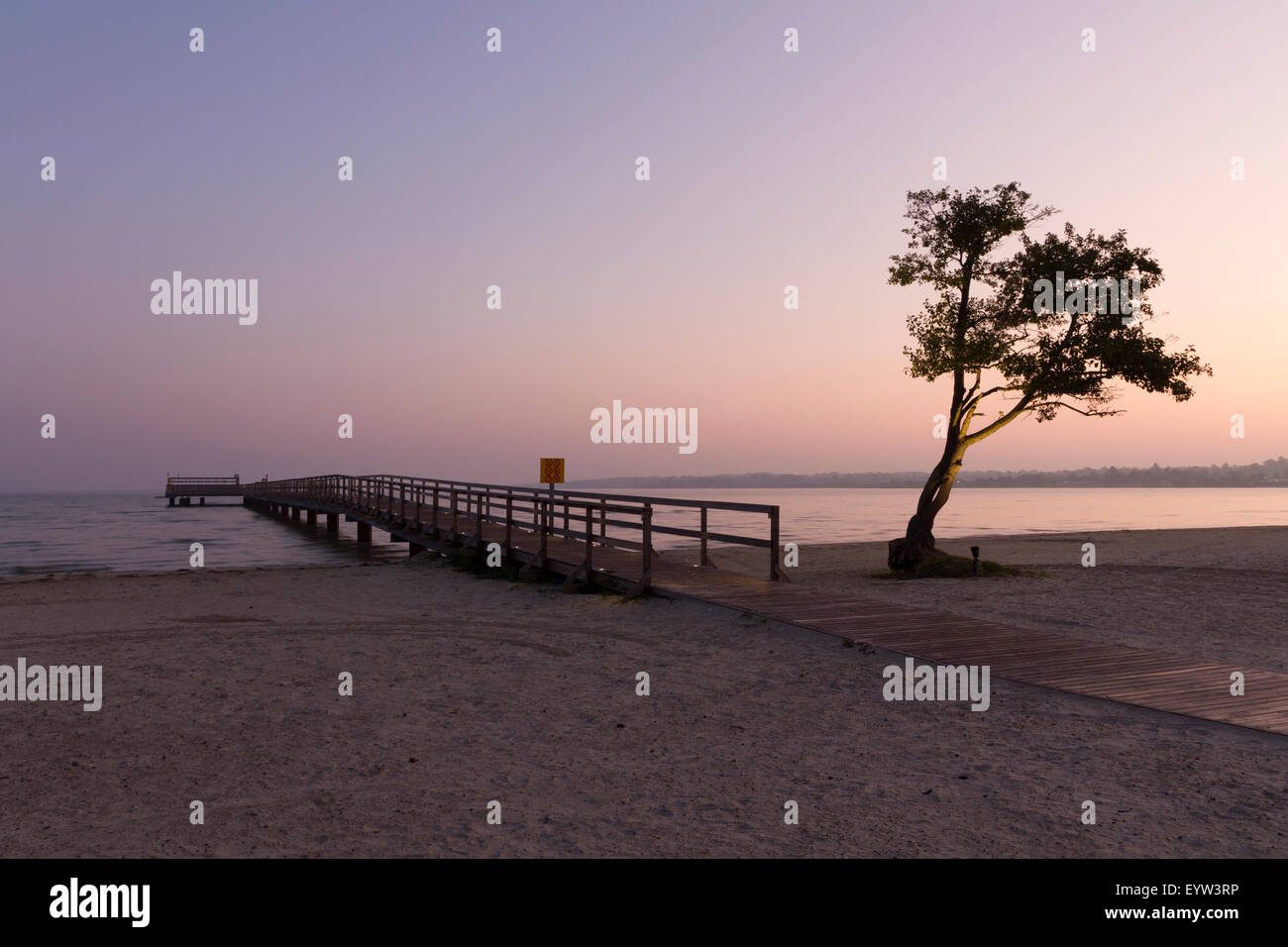 Morning light at the pier - Stock Image