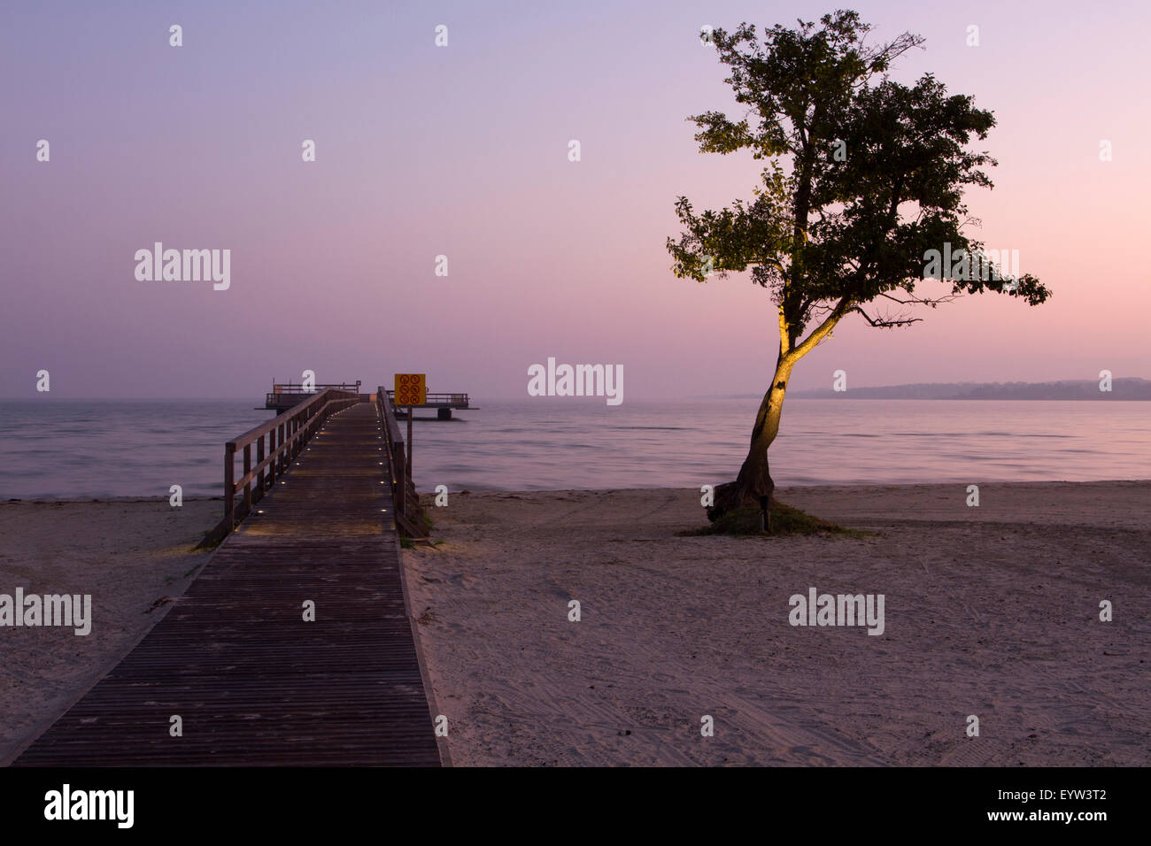 Footbridge at beach - Stock Image
