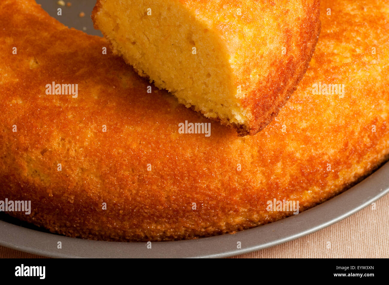 sweet donut whole and sliced - Stock Image