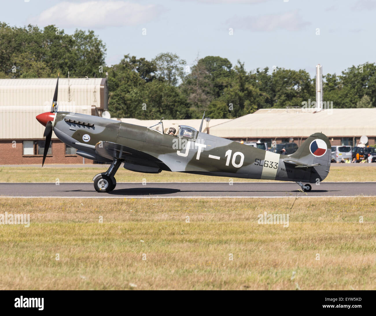 Supermarine Spitfire Mk IX at the 2015 Royal International Air Tattoo Stock Photo