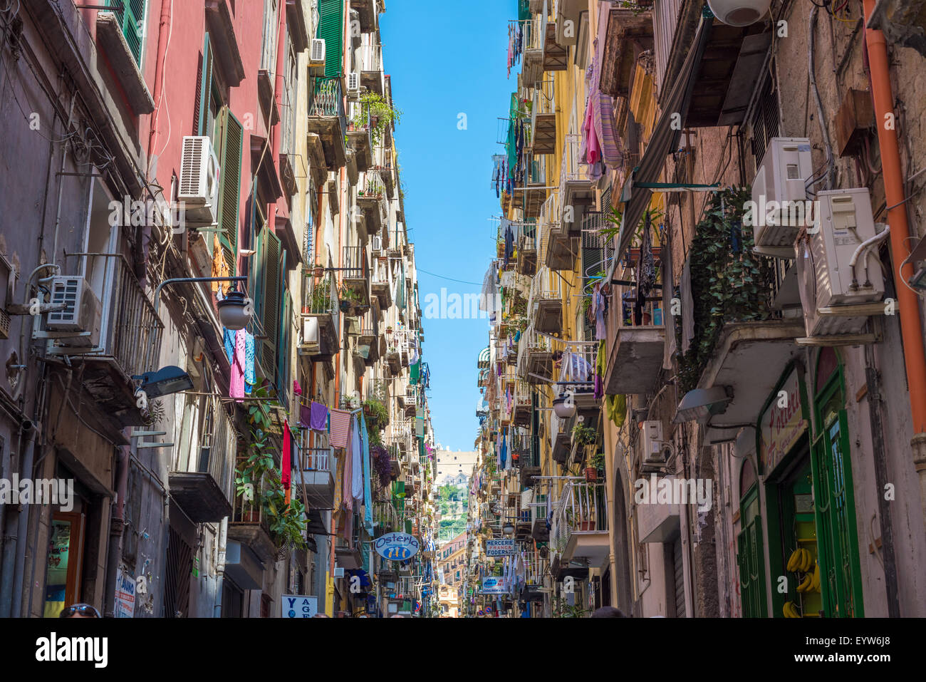 Colorful streets of Naples, Italy - Stock Image