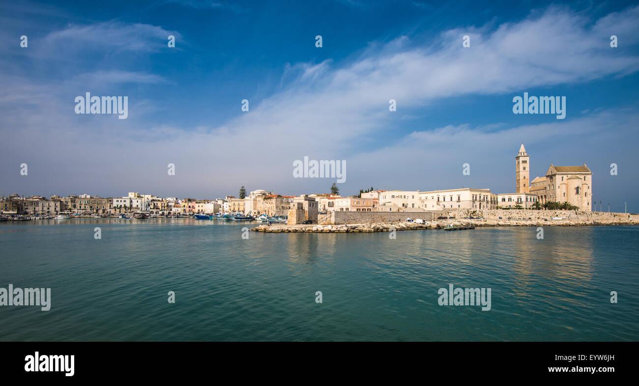 Trani, scenic town at Adriatic sea, Puglia, Italy - Stock Image