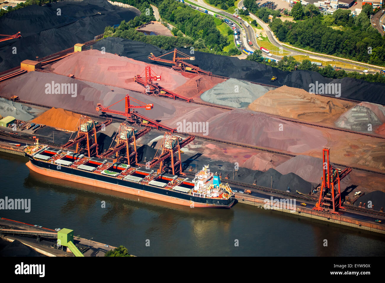 Bulk, Sandauhafen, Hansa Port, Port of Hamburg, Elbe, Hamburg, Germany - Stock Image