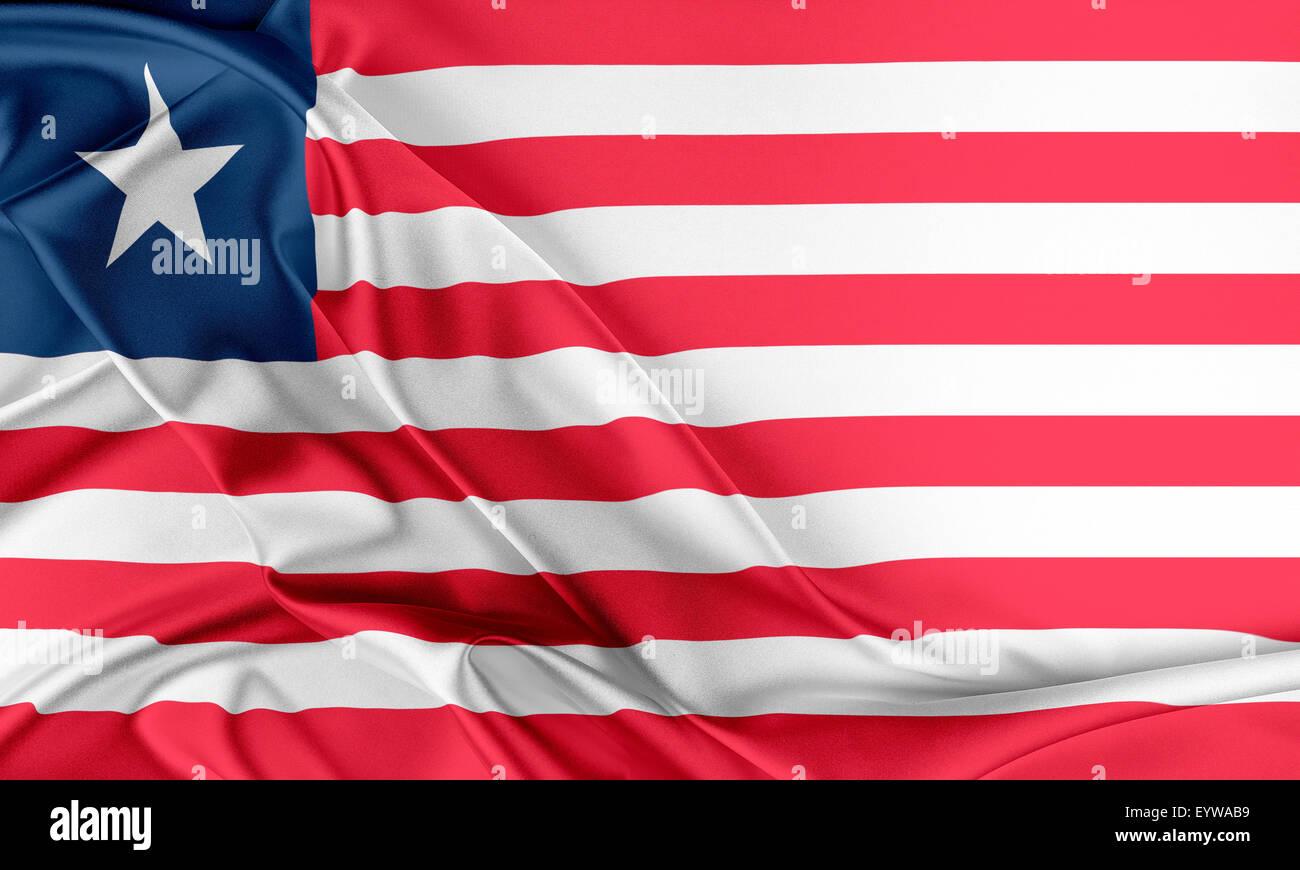 Liberia Flag. - Stock Image