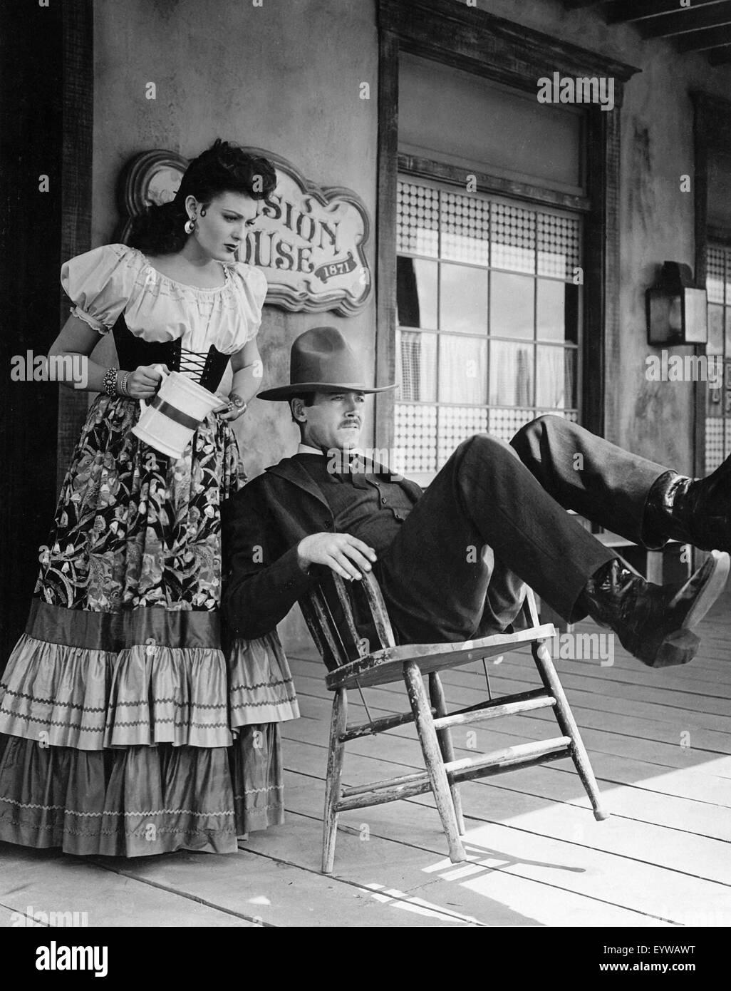 My Darling Clementine ; Year : 1946 USA ; Director : John Ford ; Linda Darnell, Henry Fonda - Stock Image